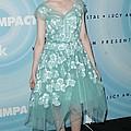 Elle Fanning Wearing A Dress By Marc by Everett