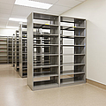 Empty Metal Shelves by Jetta Productions, Inc