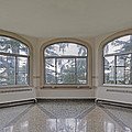 Empty Room In Turret With Windows by Douglas Orton