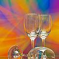 Empty Wine Glass by Anuwat Ratsamerat