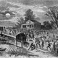 Enslaved African-americans Running by Everett