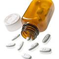 Erythromycin Antibiotic Pills by Mark Sykes