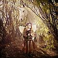 Fairy and Unicorn Print by Cindy Singleton
