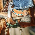 Fancy Horse Tack At A Show by Jennifer Holcombe