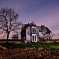 Farm House At Night by Cale Best