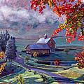 Farm In The Dell Print by David Lloyd Glover