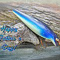 Fathers Day Greeting Card - Vintage Floyd Roman Nike Fishing Lure by Mother Nature