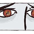 Fearful Eyes, Artwork by Paul Brown