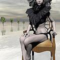 Femme Avec Chaise by Sandra Bauser Digital Art