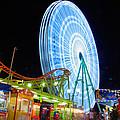 Ferris Wheel At Night by Stelios Kleanthous