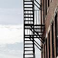 Fire escape in Boston Print by Elena Elisseeva
