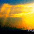 Fire In The City by Wingsdomain Art and Photography