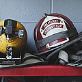 Fireman Helmets And Gear by Skip Nall