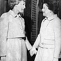 First Lady Patricia Nixon Hold Hands by Everett