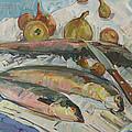 Fish soup Print by JULIYA ZHUKOVA