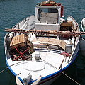 Fishing Boat With Octopus Drying by Jane Rix