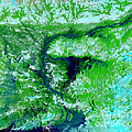 Flooding In Bangladesh by Nasa