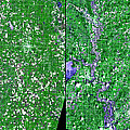 Flooding In Kansas by Nasa