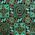 Floral Fabric Pattern by Phalakon Jaisangat