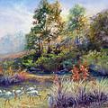 Florida Ibis Landscape by Denise Horne-Kaplan