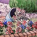 Flower Bed Sketchbook Project Down My Street by Irina Sztukowski