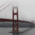 Fog At The San Francisco Golden Gate Bridge - 5d18869 by Wingsdomain Art and Photography