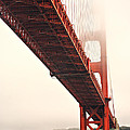 Fog Lifting At The Golden Gate by Cheryl Young