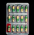 Foil Pack Of Prozac Pills by Damien Lovegrove