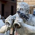Fontana Del Moro In Piazza Navona. Rome by Bernard Jaubert