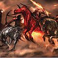 Four Horsemen Print by Alex Ruiz