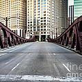 Franklin Orleans Street Bridge Chicago Loop by Paul Velgos
