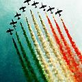 Frecce Tricolori Print by Andrea Barbieri