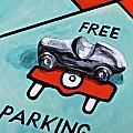 Free Parking Print by Herschel Fall