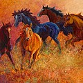 Free Range - Wild Horses Print by Marion Rose