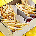 French Fries In Box by Elena Elisseeva