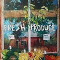 Fresh Produce Print by Micheal Jones
