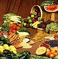Fruit And Grain Food Group by Photo Researchers
