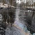 Fuel Oil Spill In A River Print by Ria Novosti