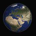 Full Earth View Showing Africa, Europe by Stocktrek Images