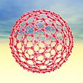 Fullerene Molecule, Computer Artwork by Laguna Design