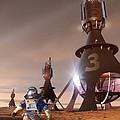Future Mars Exploration, Artwork by Detlev Van Ravenswaay