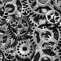Gears Of Time Black And White by David Paul Murray