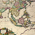 General Map Extending From India And Ceylon To Northwestern Australia By Way Of Southern Japan by Nicolaes Visscher Claes Jansz