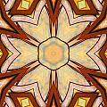 Geometric Stained Glass Abstract by Linda Phelps