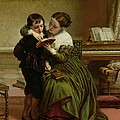 George Herbert And His Mother by Charles West Cope