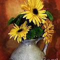 Gerber Yellow Daisies by Marsha Heiken