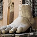 Giant Foot From Emperor Constantine Statue. Capitoline Museum. R by Bernard Jaubert