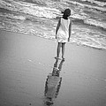 Girl by Ocean Print by Kelly Hazel