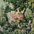 Girl Swinging Tapestry by Unique Consignment