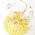 Glass Pitcher Of Lemonade by Andee Design